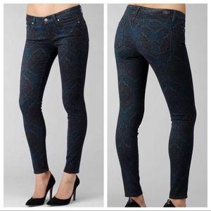 ⭐️ Paige Verdugo Ultra Skinny Paisley Jeans